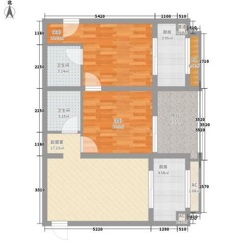 紫薇家天下2室0厅2卫2厨90.00㎡户型图