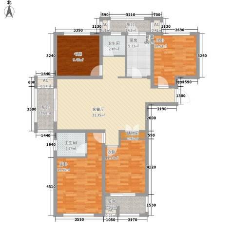 上品・长安人家4室1厅2卫1厨149.00㎡户型图