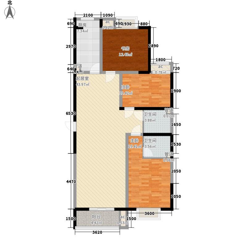 未央湖畔139.46㎡未央湖畔户型图H户型图3室3厅2卫1厨户型3室3厅2卫1厨