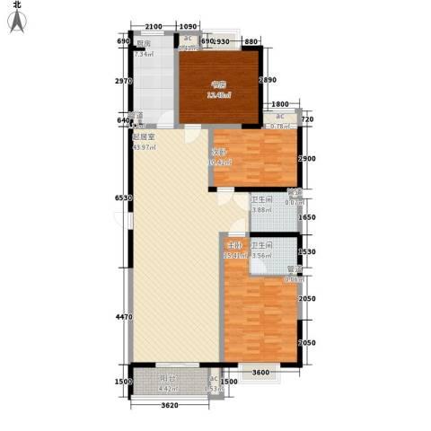 未央湖畔3室0厅2卫1厨139.00㎡户型图