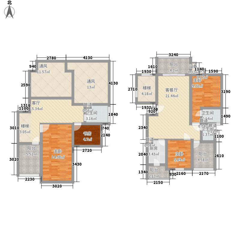 大华晴朗居151.66㎡大华晴朗居151.66㎡4室3厅3卫1厨户型4室3厅3卫1厨