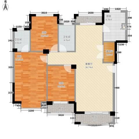 圆梦08庄园3室1厅2卫1厨131.00㎡户型图