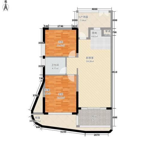 森林湖2室0厅1卫0厨91.90㎡户型图