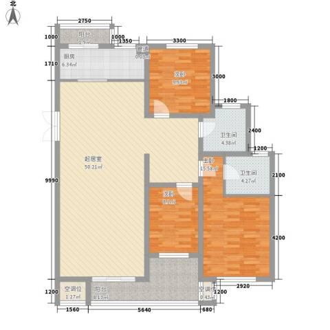 帝景传说山邸3室0厅2卫1厨131.00㎡户型图