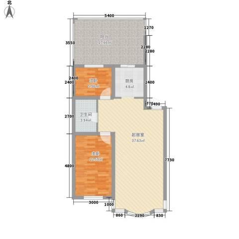 柳湖绿园2室0厅1卫0厨87.00㎡户型图
