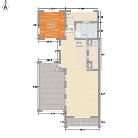 上置绿洲香岛原墅1室0厅1卫0厨152.00㎡户型图