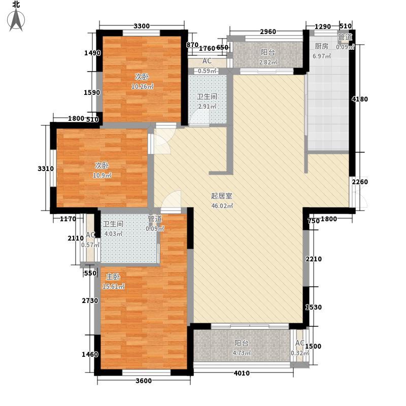 新港首府141.00㎡B11户型3室2厅2卫1厨