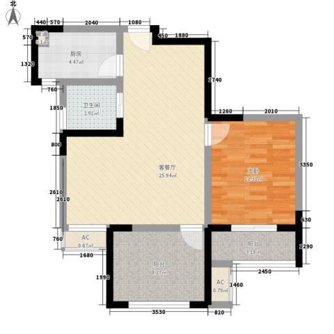 永宁雅苑1室1厅1卫1厨67.86㎡户型图