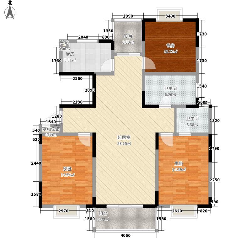 华灿公寓143.99㎡华灿公寓户型图B户型3室2厅2卫1厨户型3室2厅2卫1厨