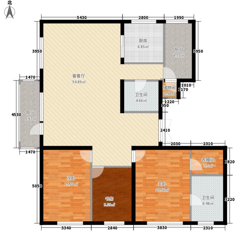 园博府别墅B1户型3室2厅2卫1厨