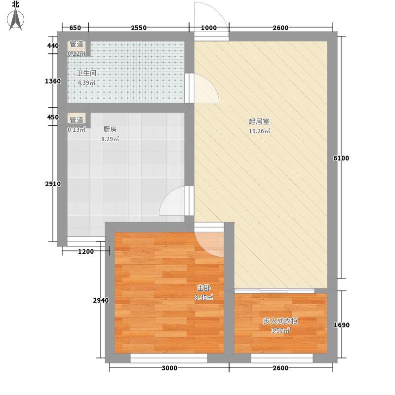 东北亚・城市花园一期3、5号楼标准层景澄户型
