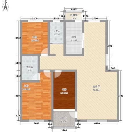 家源19533室1厅2卫1厨142.00㎡户型图