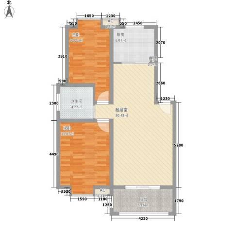 一品和�2室0厅1卫1厨87.00㎡户型图