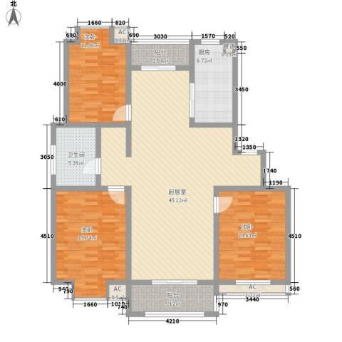 一品和�3室0厅1卫1厨118.00㎡户型图
