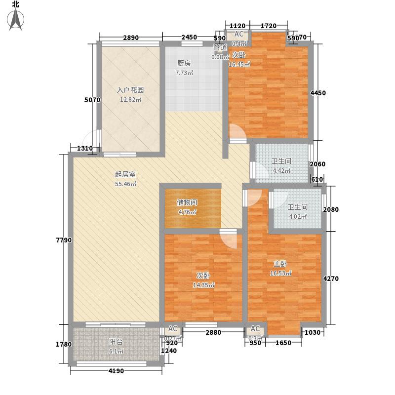一品和�145.00㎡一期K户型3室2厅2卫1厨