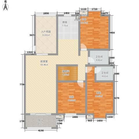 一品和�3室0厅2卫0厨145.00㎡户型图