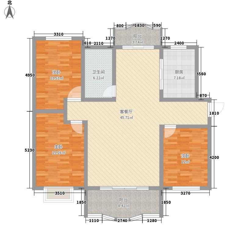 美林印象98.00㎡美林印象3室户型3室
