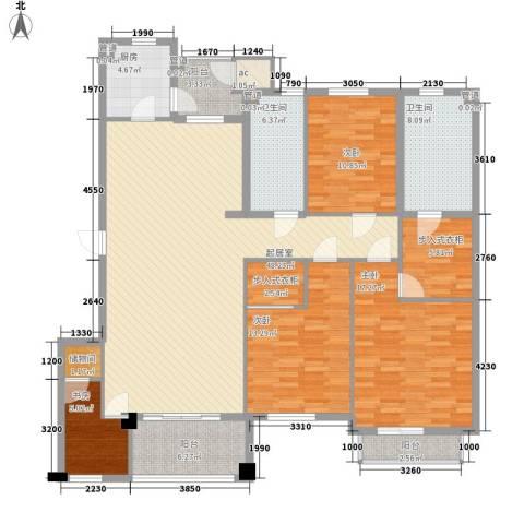 普罗旺斯4室0厅2卫1厨154.00㎡户型图