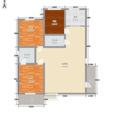 圣会家天下3室0厅2卫1厨149.00㎡户型图