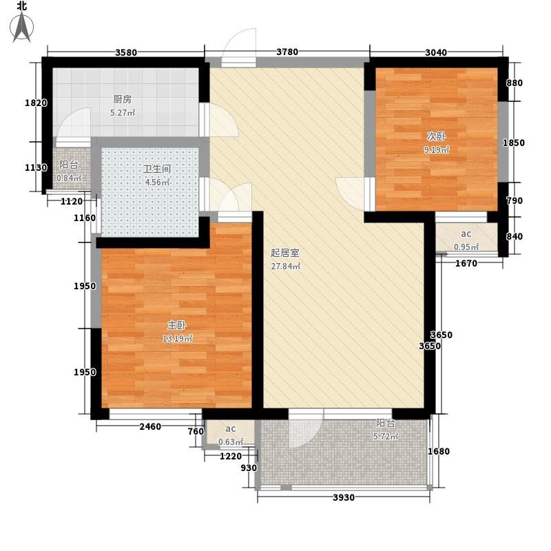紫竹华庭90.00㎡二期7号楼标准层B1户型