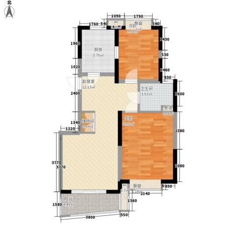 纯翠苑2室0厅1卫1厨90.00㎡户型图