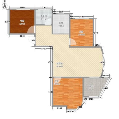 圣博・未来城3室0厅1卫1厨116.38㎡户型图
