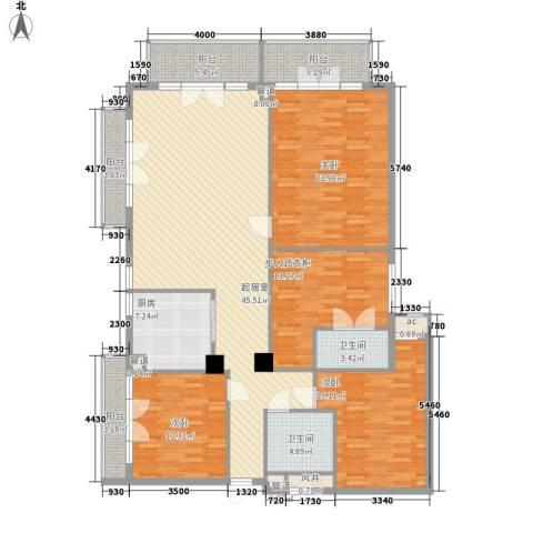 观澜高尔夫二期观澜豪园3室0厅2卫1厨200.00㎡户型图