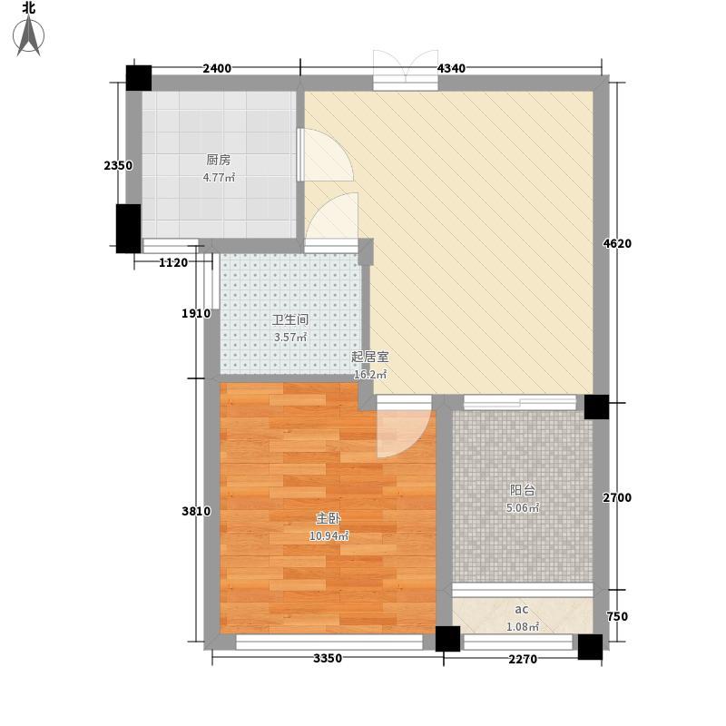 金色湖滨60.18㎡金色湖滨户型图3#楼B户型2室2厅1卫1厨户型2室2厅1卫1厨