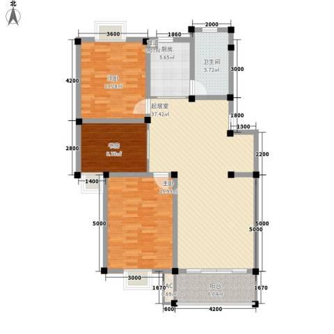 上林苑3室0厅1卫1厨115.00㎡户型图