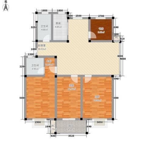 上林苑4室0厅2卫1厨138.00㎡户型图