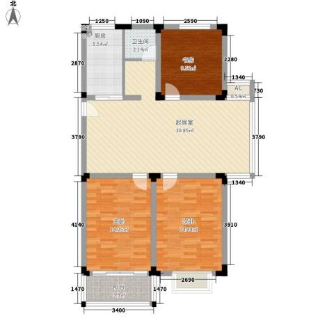 华夏星辰3室0厅1卫1厨116.00㎡户型图