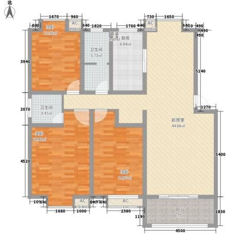 一品和�3室0厅2卫1厨125.00㎡户型图