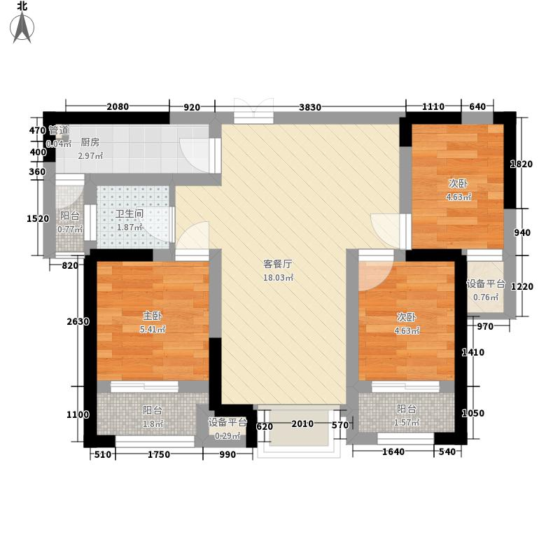 红梅西村66.00㎡红梅西村2室户型2室