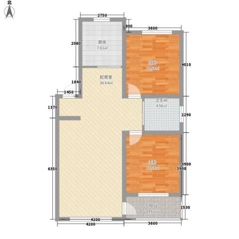 月潭爱丁堡2室0厅1卫1厨96.00㎡户型图