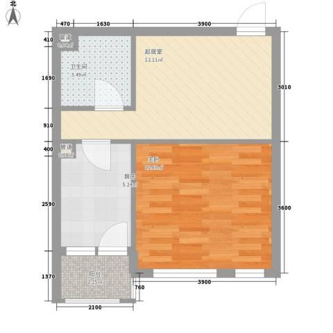 慈光世纪居1室0厅1卫1厨70.00㎡户型图