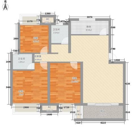 盛通・拂晓3室0厅2卫1厨115.00㎡户型图