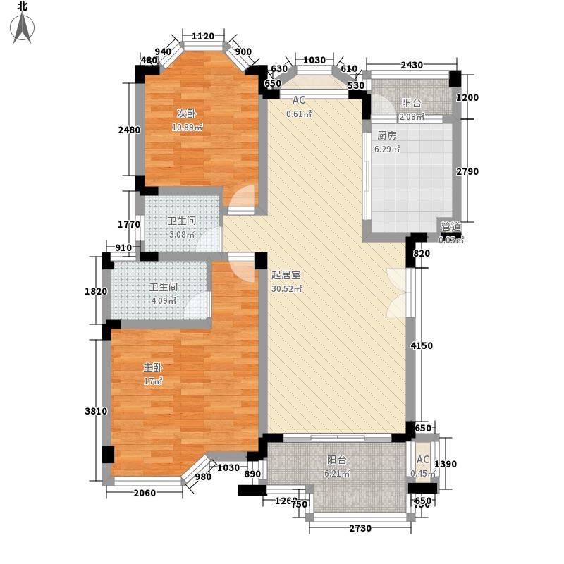 银丽高尔夫别墅119.37㎡银丽高尔夫别墅户型图洋房公寓A户型2室2厅2卫1厨户型2室2厅2卫1厨