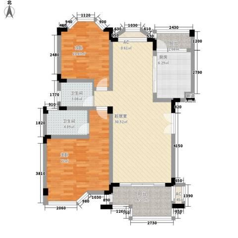 银丽高尔夫别墅2室0厅2卫1厨119.00㎡户型图