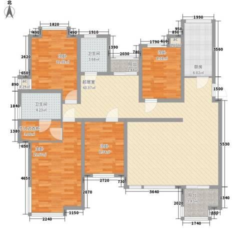 国大全城4室0厅2卫1厨157.00㎡户型图