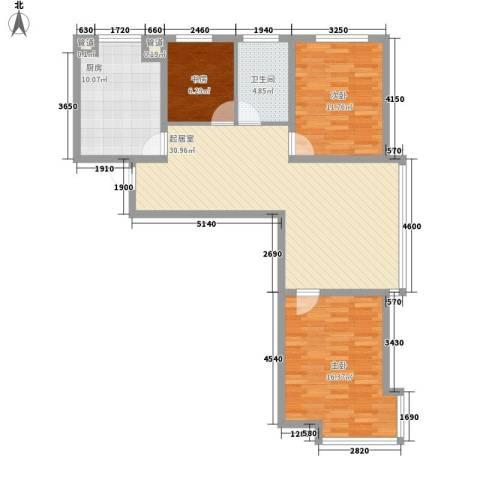 世博家园3室0厅1卫1厨112.00㎡户型图