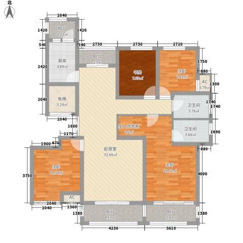 观澜盛世4室0厅2卫1厨158.00㎡户型图