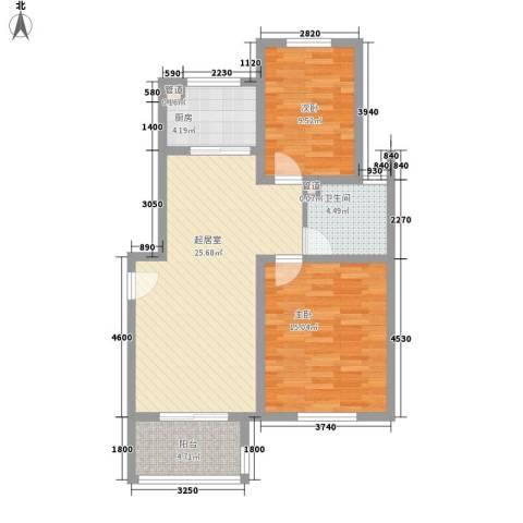 星光城2室0厅1卫1厨93.00㎡户型图
