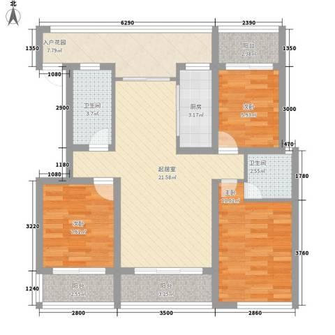 金鼎旺座3室0厅2卫1厨105.00㎡户型图