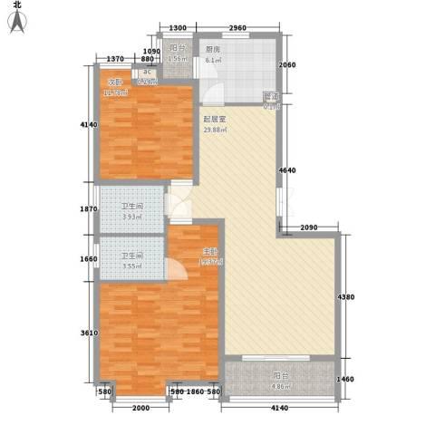 国大全城2室0厅2卫1厨116.00㎡户型图