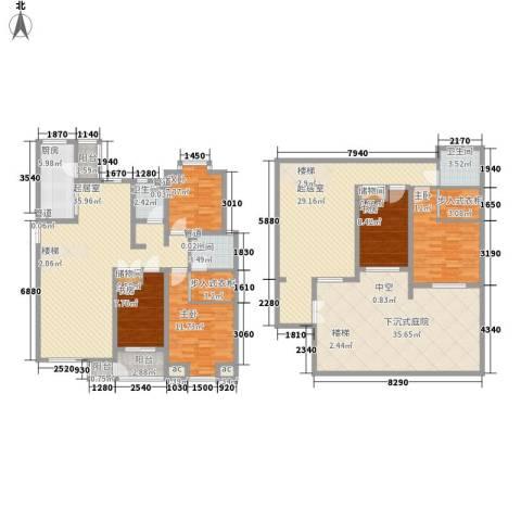 国大全城5室0厅3卫1厨204.00㎡户型图