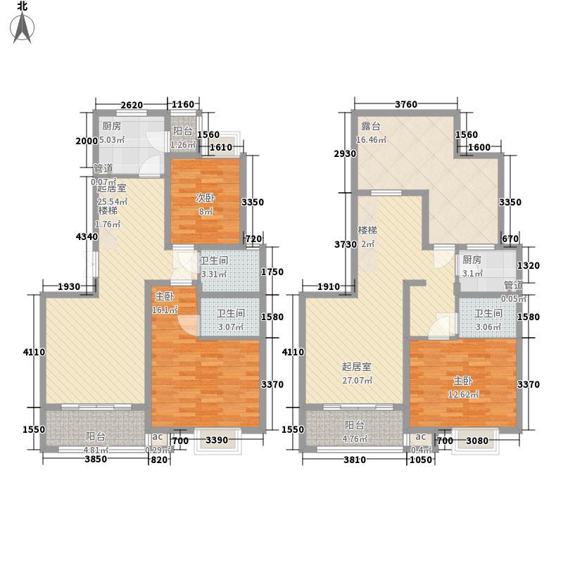 国大全城194.54㎡D'7、8号楼跃层面积19454m户型
