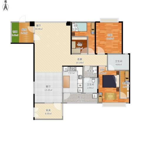 奥克斯广场4室1厅2卫1厨158.00㎡户型图
