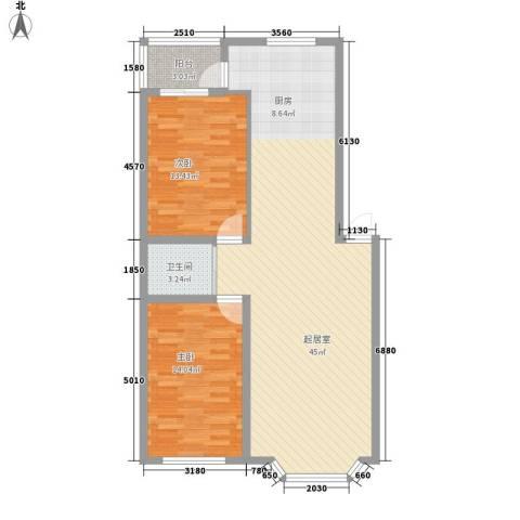 华宇花园2室0厅1卫0厨109.00㎡户型图