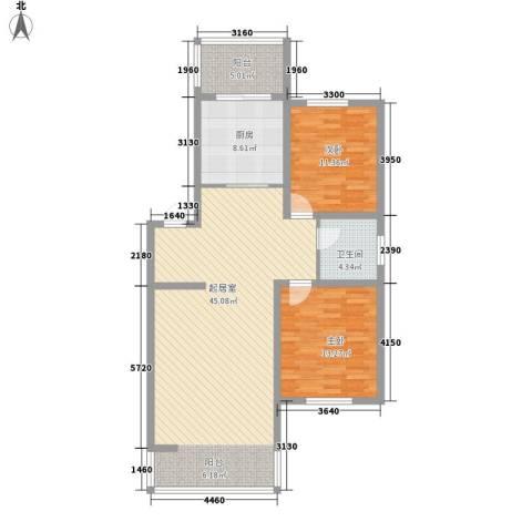 世博家园2室0厅1卫1厨97.00㎡户型图