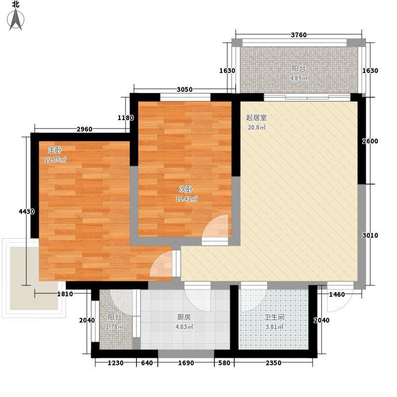 宏丰大厦C户型:三房两厅一卫,91.76平米_调整大小户型3室2厅1卫1厨